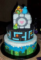 video game wedding cake